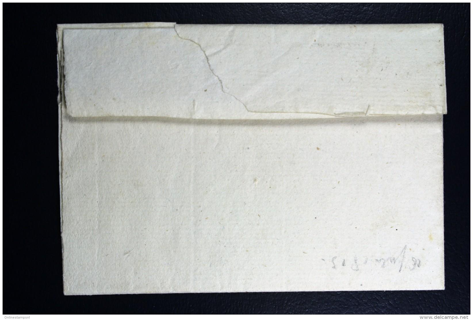 Cover 1815 Van ALPHEN 37 Mm Naar Alkemade - Niederlande