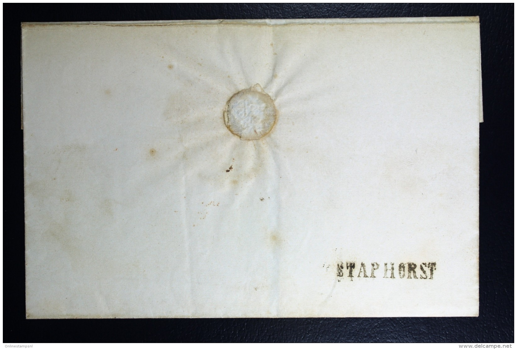 Cover Van STAPHORST Naar Meppel 1853 - Niederlande
