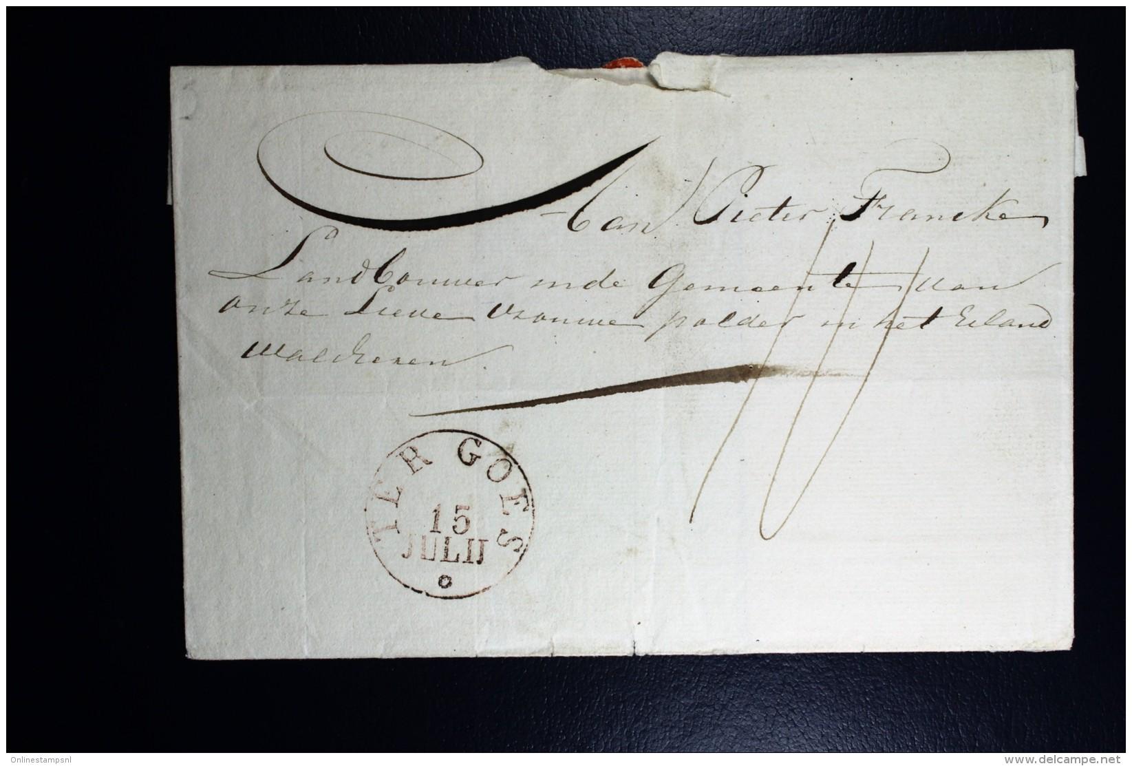Cover Van Goes TER GOES In Cirkel Naar Middelburg 1829 ?  RR - Niederlande