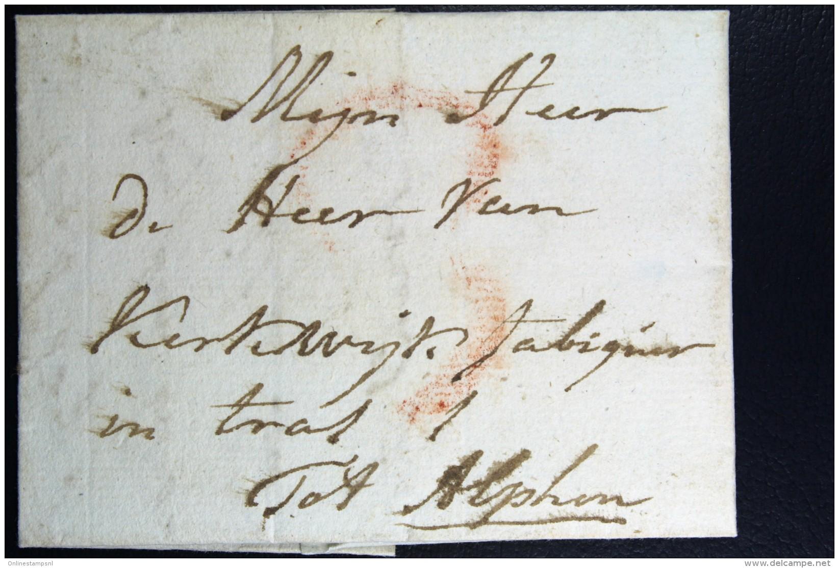 Complete Letter Den Haag Naar Alphen  Portstempel 3 Stuiver Stempel En HAAG - Niederlande