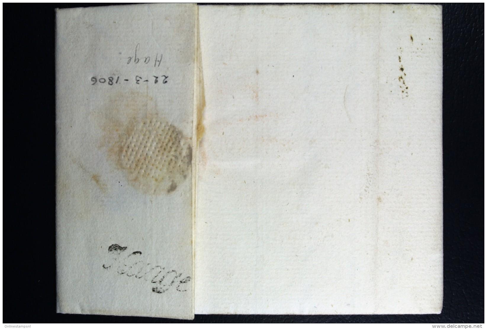 Complete Letter Den Haag  Naar Amsterdam 1806 HAAGE Cursief - Niederlande