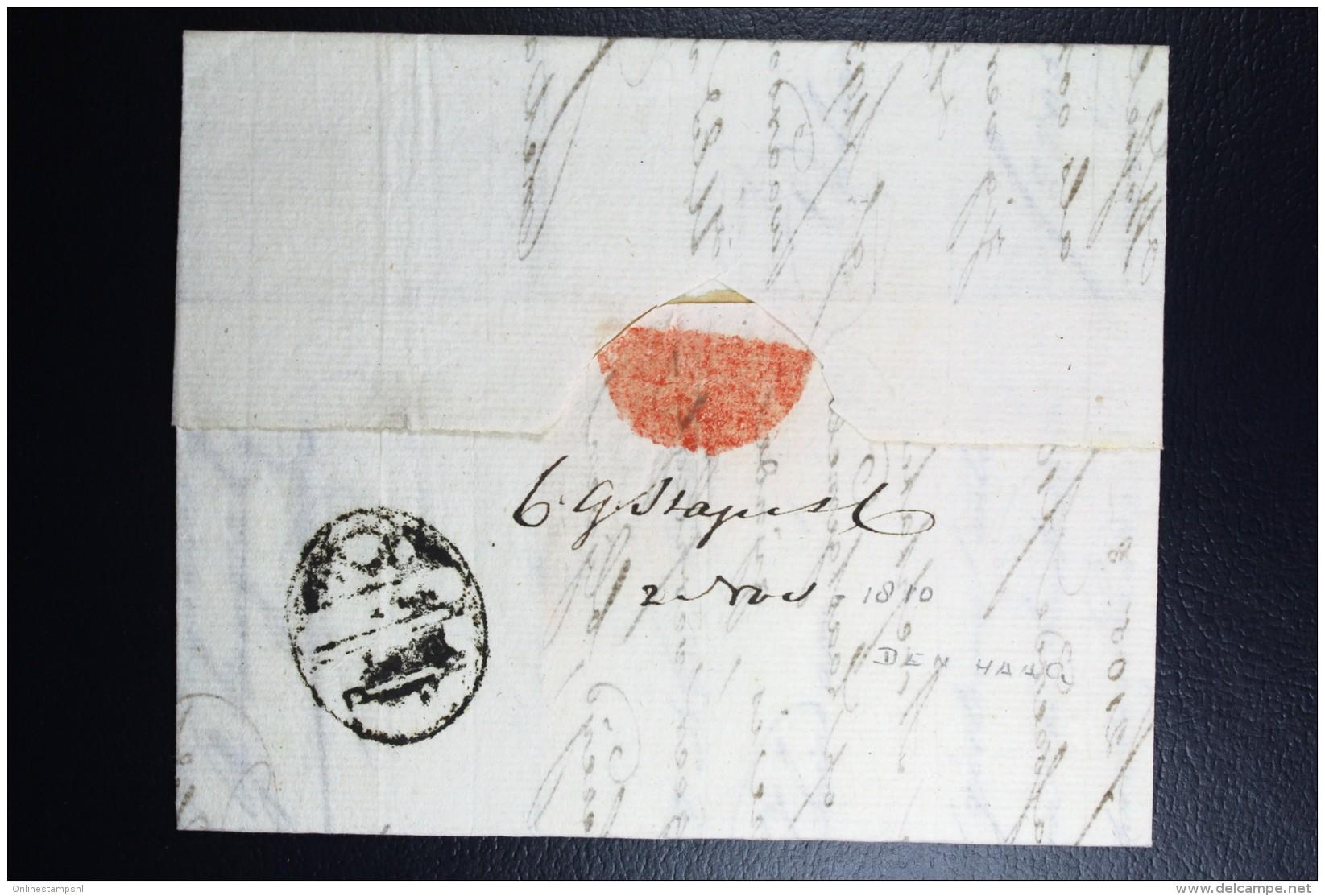 Complete Letter Den Haag  Naar Schiedam 1810   3 Stuiver Port Stempel - Niederlande