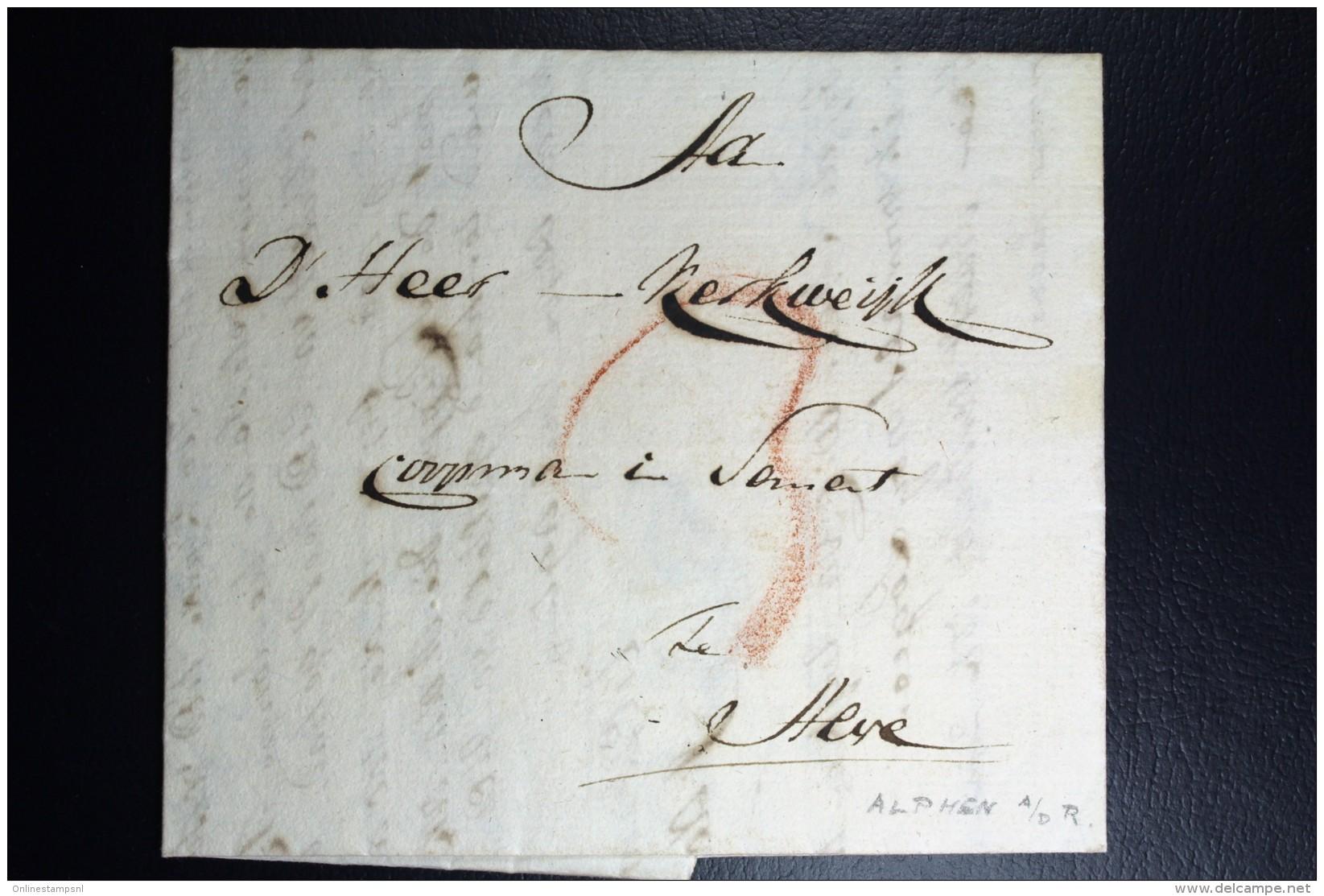 Complete Letter Den Haag  Naar Alphen  1801   3 Stuiver Port Stempel - Niederlande