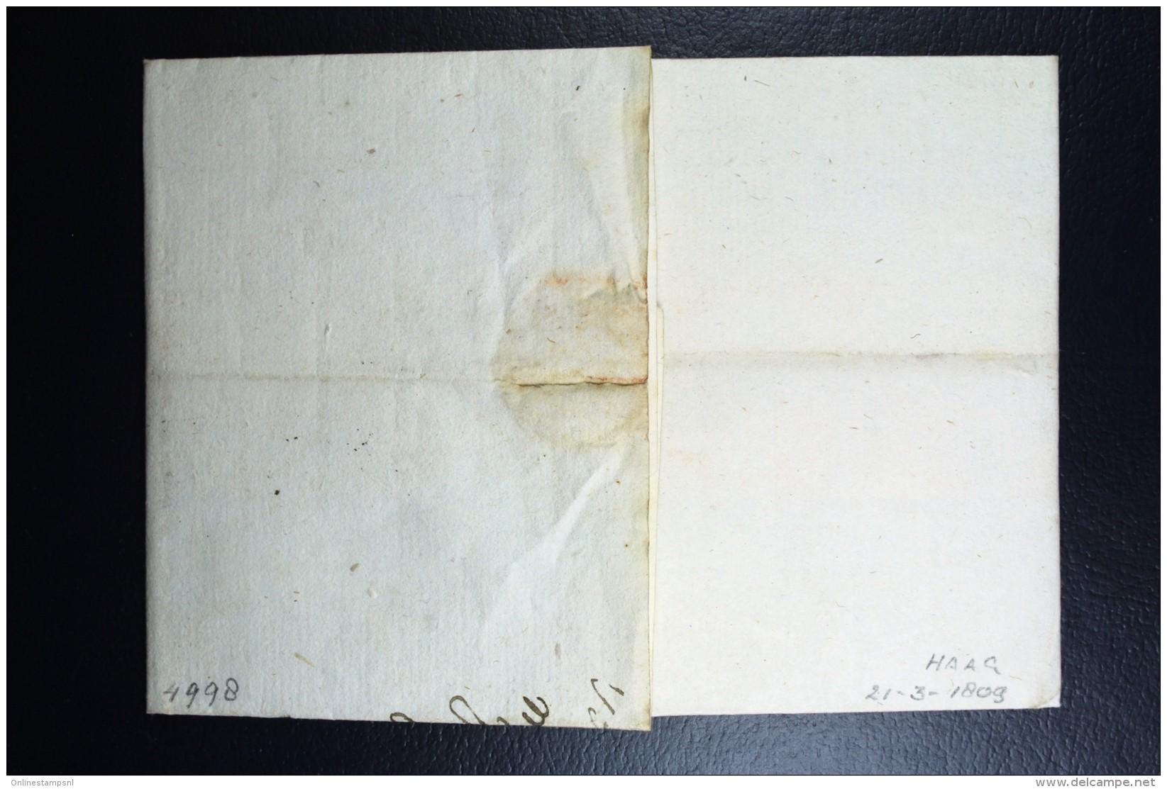 Complete Letter Den Haag Naar Amsterdam  1809   3 Stuiver Port Stempel - Niederlande