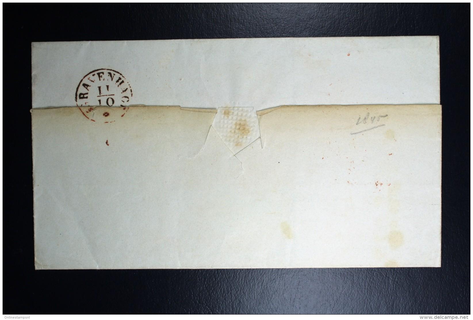 Complete Letter Amsterdam Naar Den Haag Zwart Cirkel Stempel  XxC6 - Niederlande