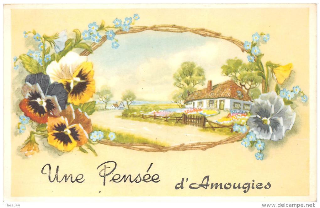 ¤¤  -   BELGIQUE   -  MONT-de-L'ENCLUS    -  Un Souvenir D' AMOUGIES  -  Carte Fantaisie    -  ¤¤ - Mont-de-l'Enclus