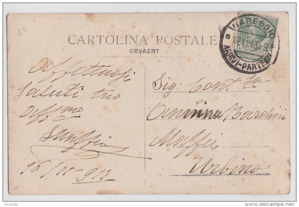 SVENDITA - VIAREGGIO  LUCCA POSA  PRIMA PIETRA PER IL PORTO TRONO PER VITTORIO EMANUELE III F/P VIAGGIATA 1913 - Viareggio