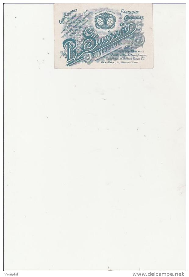 PUBLICITE -FABRIQUE DE CHOCOLAT SUCHARD - IMAGE MONUMENT DU GENERAL DUFOUR A GENEVE - Suchard