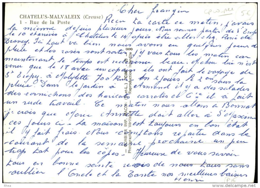 23 - CHATELUS-MALVALEIX - Carotte Tabac - Chatelus Malvaleix