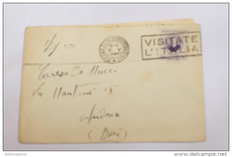 ITALIA REGNO 1938 - MARCONI  50 CENT SU BUSTA  DA MILANO A ANDRIA - Storia Postale