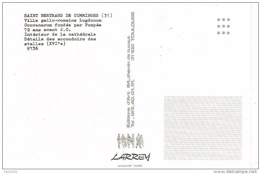 PN166 - POSTAL - SAINT BERTRAND DE COMMINGES - VILLE GALO-ROMANA - INTERIOR DE LA CATHEDRALE - Sin Clasificación