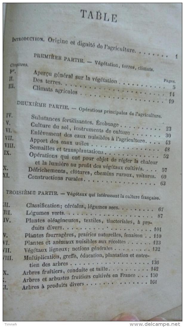 Louis GOSSIN 1874 MANUEL ELEMENTAIRE CLASSIQUE ARBORICULTURE JARDINAGE APPROPRIE AUX DIVERSES PARTIES DE LA FRANCE - 1801-1900