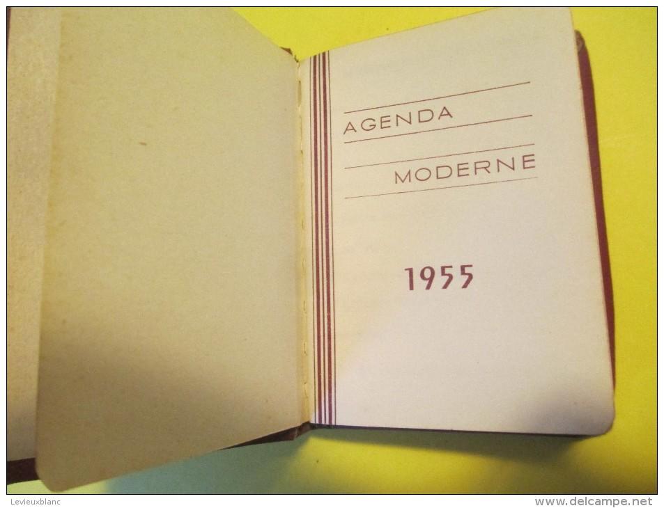 "Petit Agenda-Calendrier De Poche/ ""Agenda Moderne ""/Incomplet/1955     CAL 327 - Calendriers"