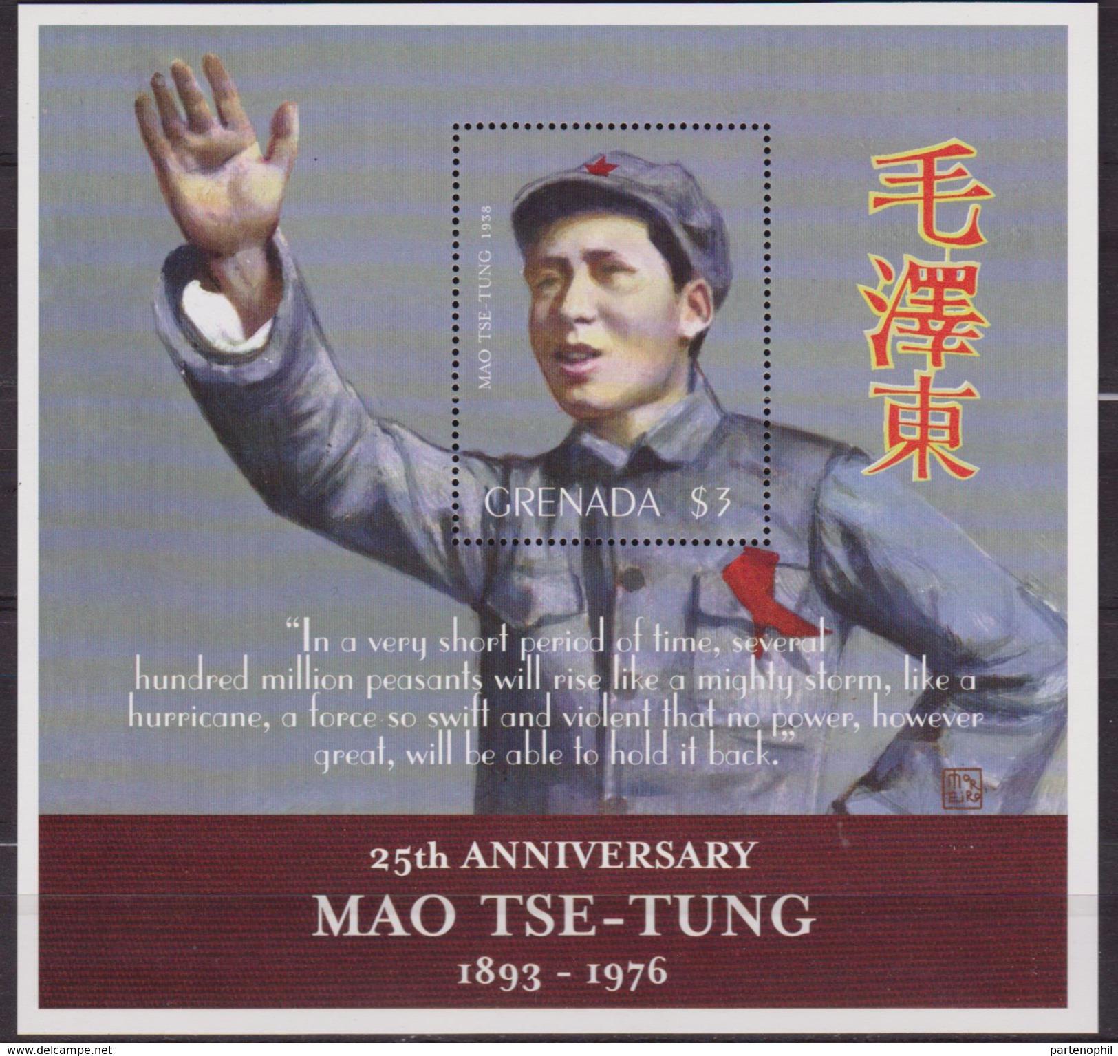 GRENADA MAO TSE TUNG MNH SHEET MNH - Mao Tse-Tung