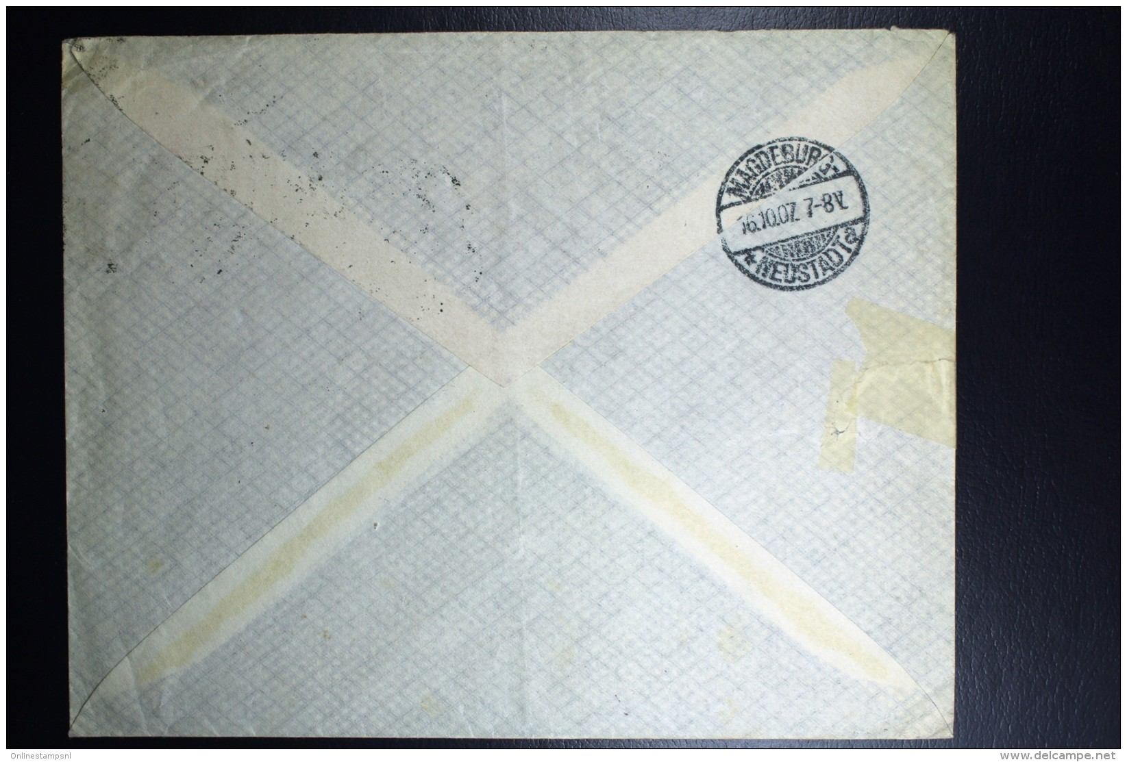 Nederland Aangetekende Enveloppe Amsterdam Magdeburg  NVPH Nr 70   1907 - Periode 1891-1948 (Wilhelmina)