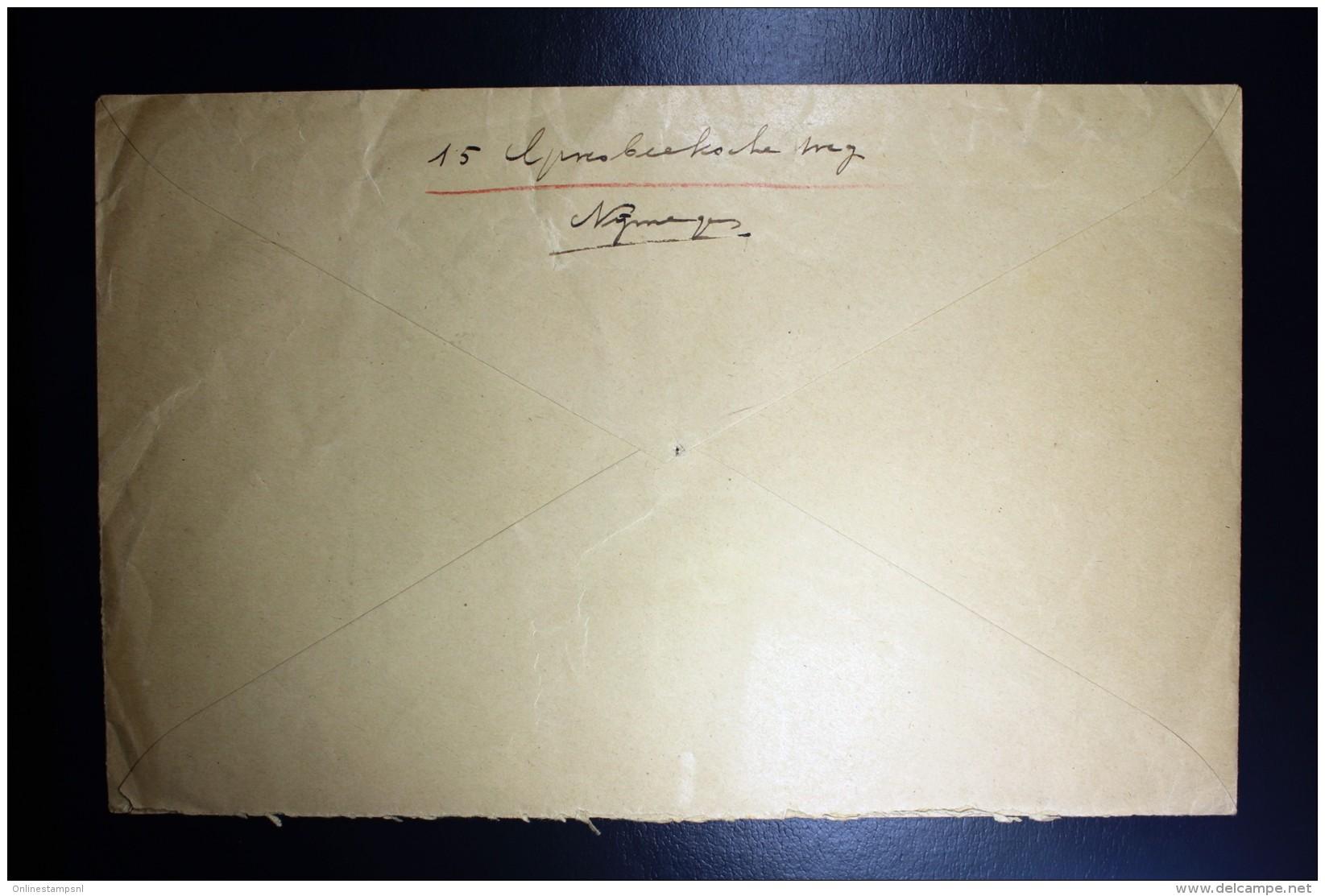 Nederland Aangetekende Enveloppe Nijmegen Naar Utrecht NVPH 173 + 192 Mengfrankering - Periode 1891-1948 (Wilhelmina)