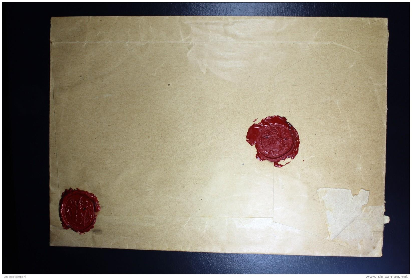 Nederland Aangetekende Enveloppe Hilversum Naar Utrecht NVPH 173 + 192 Mengfrankering - Periode 1891-1948 (Wilhelmina)