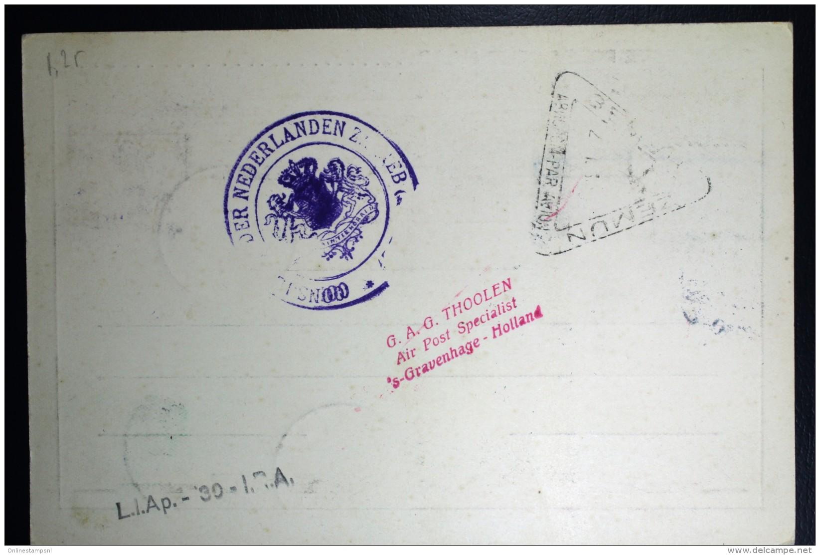 Nederland  Kaart Eerste Postvlucht Naar Zagreb Met R37 Via Berlijn En Wenen, Incl. Retour - Periode 1891-1948 (Wilhelmina)