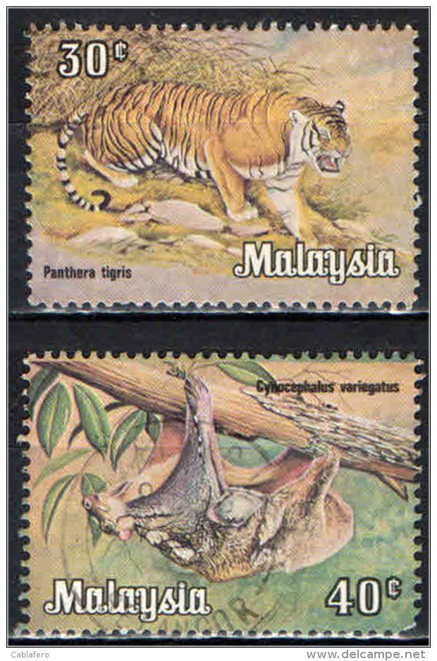 MALESIA - 1979 -  TIGRE E COBEGO - USATI - Malasia (1964-...)