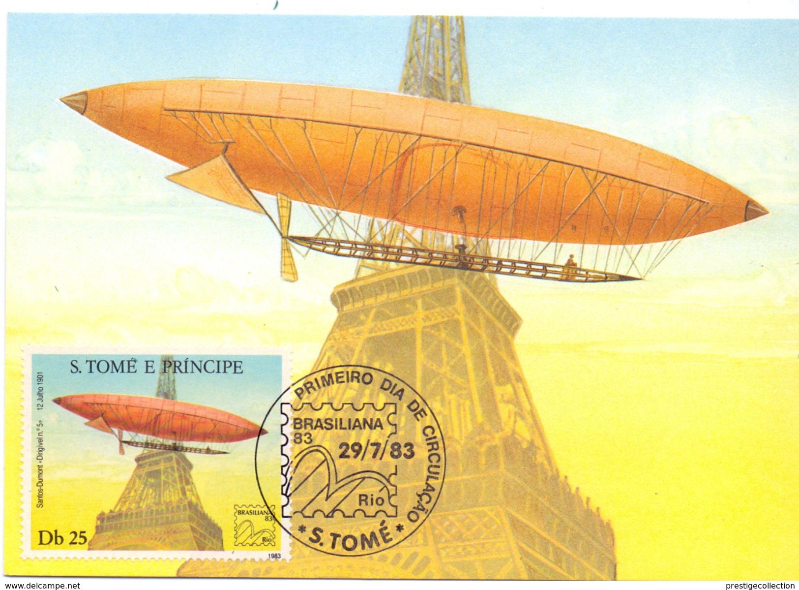 São Tomé E Príncipe FDC 1983 3 PIECES COLLECTION   MAXIMUN POST CARD (SET160056) - Dirigibili