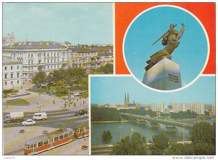 Pologne - Warszawa - Aleje Jerozolimskie - Tramway - Pologne