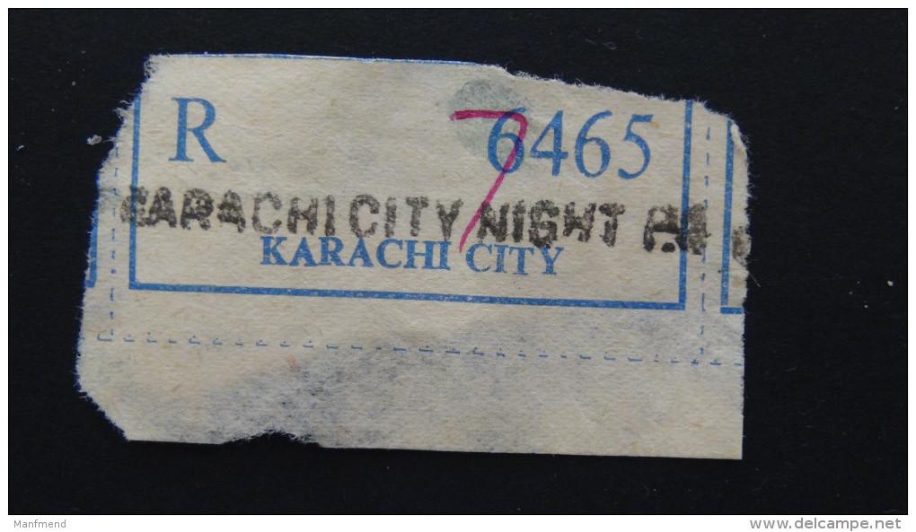Pakistan - Registration Label Karachi City - Look Scan - Pakistan
