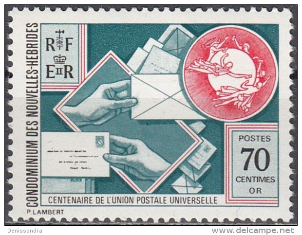 Nouvelles Hebrides 1974 Michel 400 Neuf ** Cote (2005) 1.30 Euro 100 Ans UPU - Neufs