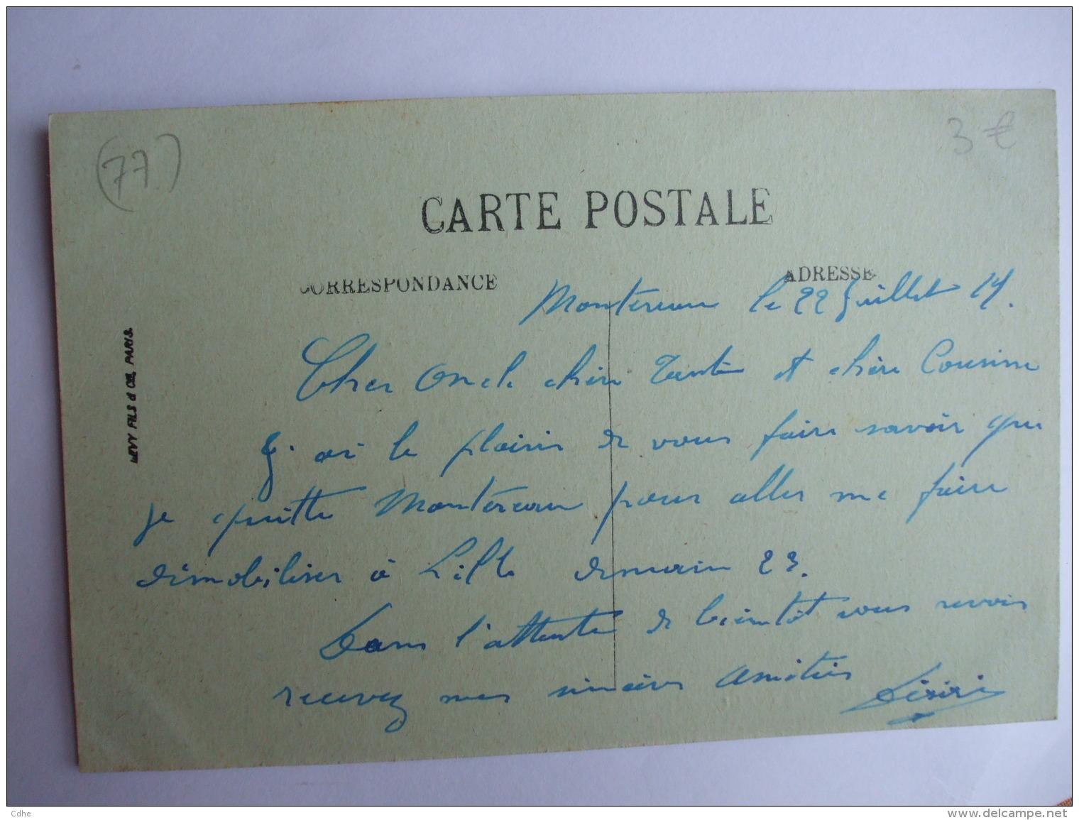AL 8 - 77  -  MONTEREAU -   LA RUE GRANDE - - Montereau