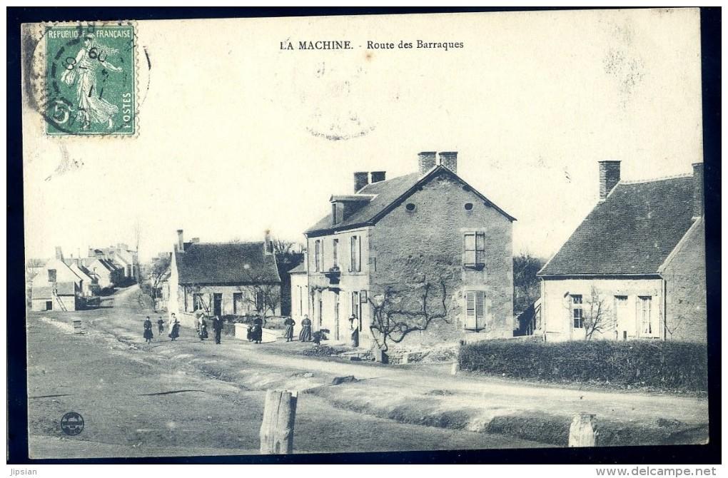 Cpa   Du 58  La Machine -- Route Des Baraques       LIOB103 - La Machine