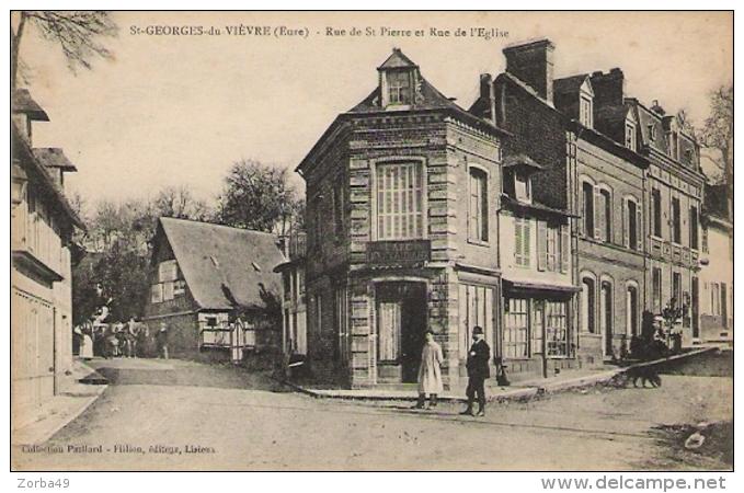 ST GEORGES DU VIEVRE Rue De St Pierre Et Rue De L' Eglise - Autres Communes