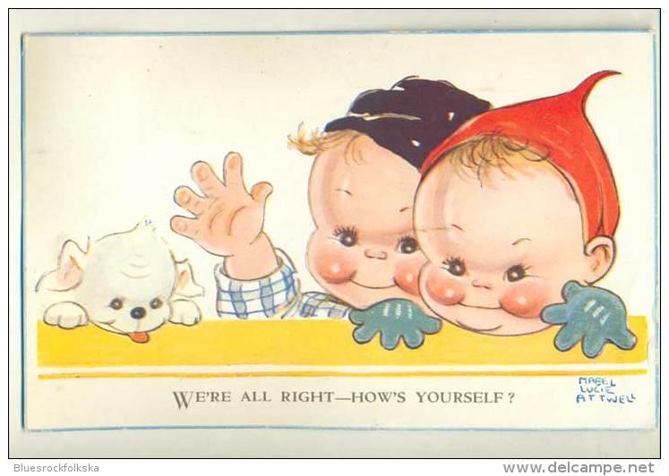 Mabel Lucie Attwell - Card 818 - 1949 - Attwell, M. L.