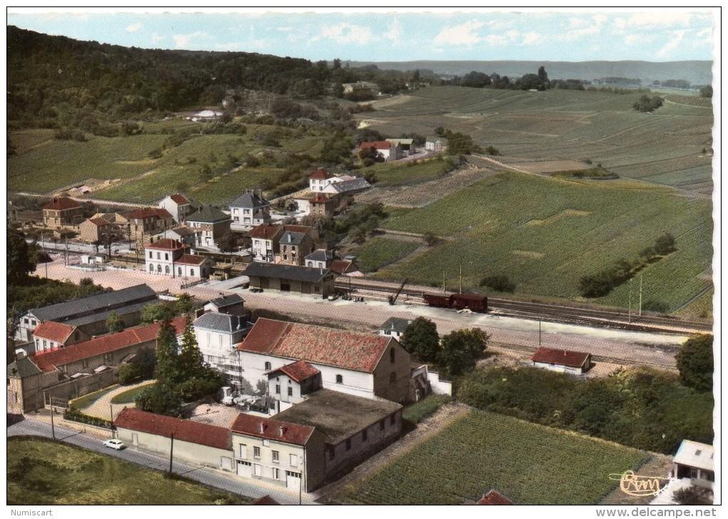 Rilly-la-Montagne.. Belle Vue Aérienne La Gare - Rilly-la-Montagne