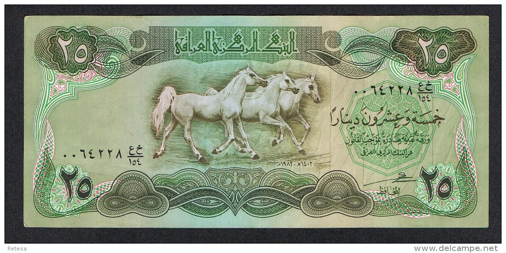 °°°  IRAK  25 DINARS  1982 - Iraq
