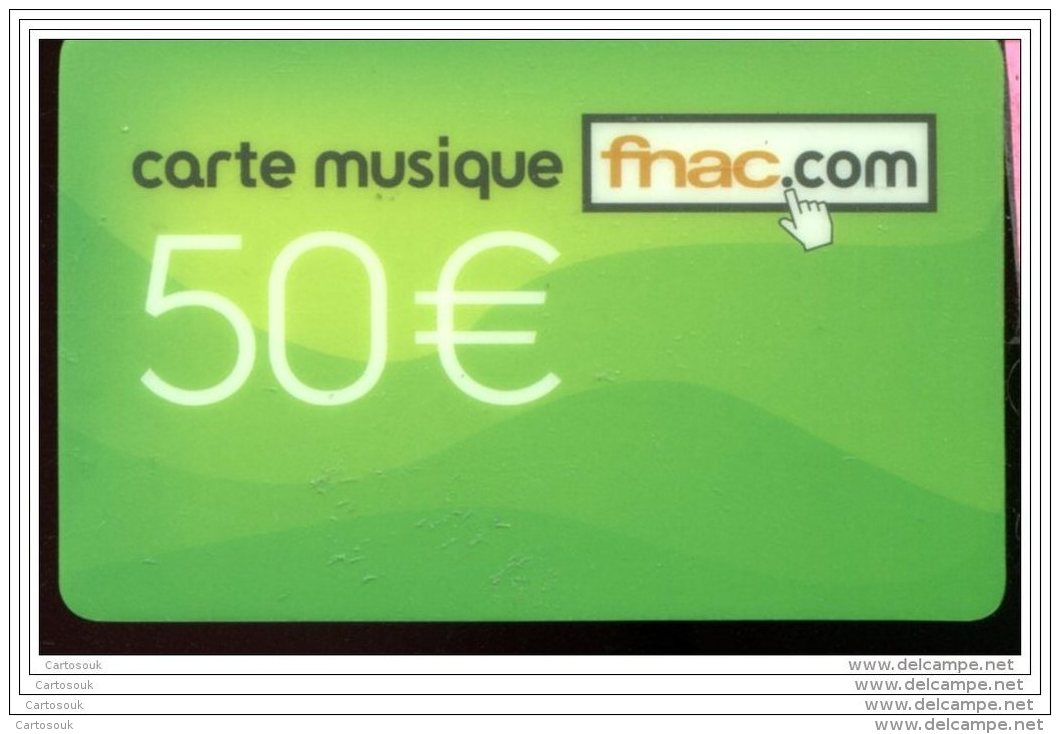 CD5050  CARTE CADEAU  A VOIR  FRANCE - Cartes Cadeaux