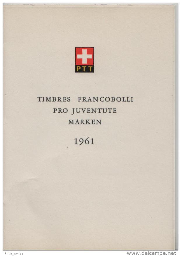 1961 Pro Juventute J188-J192 742-746 FD First Day - PTT Faltblatt Nr. 45 Jour D'emission - Pro Juventute