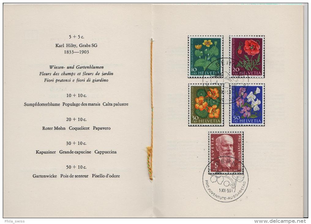 1959 Pro Juventute J178-J182 687-691 FD First Day - PTT Faltblatt Nr. 24 Jour D´emission - Pro Juventute