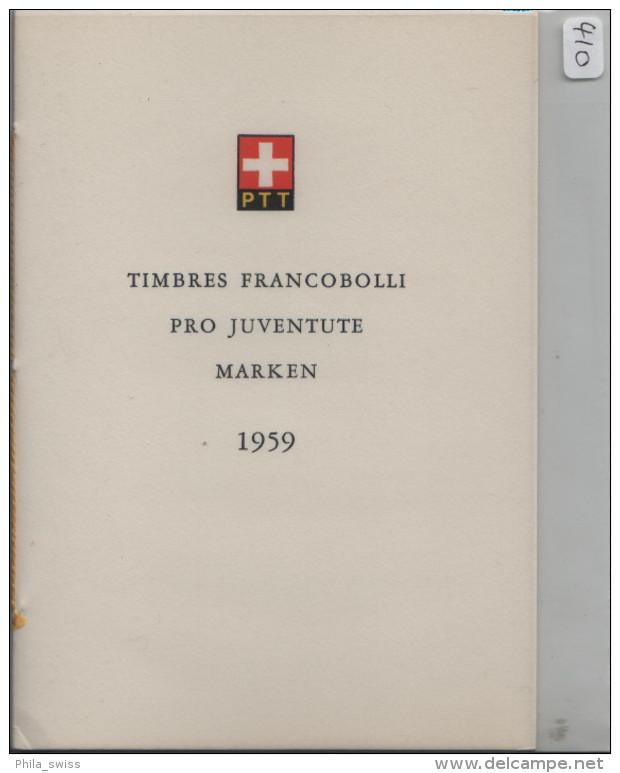 1959 Pro Juventute J178-J182 687-691 FD First Day - PTT Faltblatt Nr. 24 Jour D´emission - Lettres & Documents