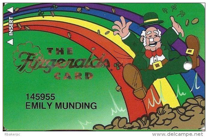 Fitzgerald´s Casino Las Vegas, NV - 4th Issue Slot Card - No Phone# - 12.5mm Mag Stripe - Casino Cards