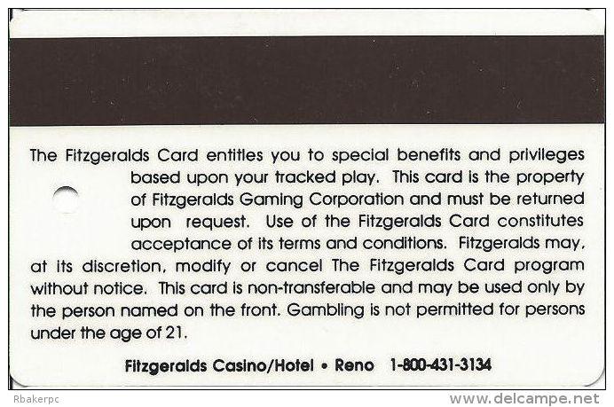 Fitzgerald´s Casino Reno, NV - Slot Card - Millennium Card - Casino Cards