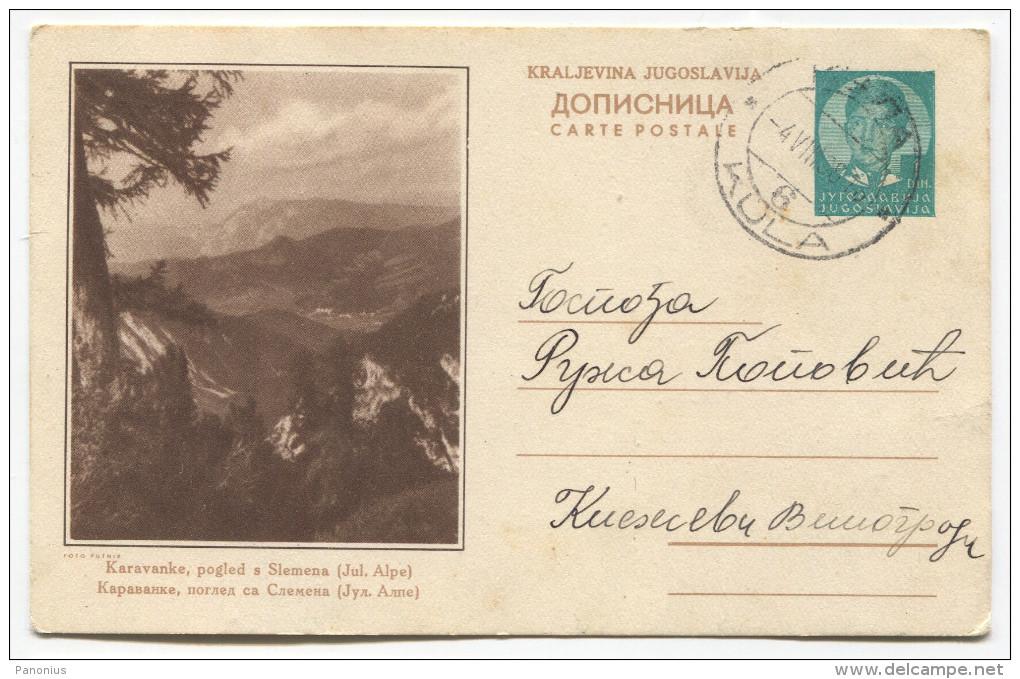 KINGDOM Of YUGOSLAVIA - Slovenia, Karavanke Alpe, Illustrated Postcard 1938. - Postal Stationery