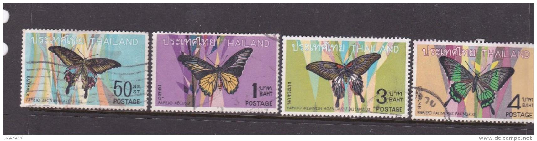 Thailand SG 602-605 1968 Thai Butterrflies Used Set - Thaïlande