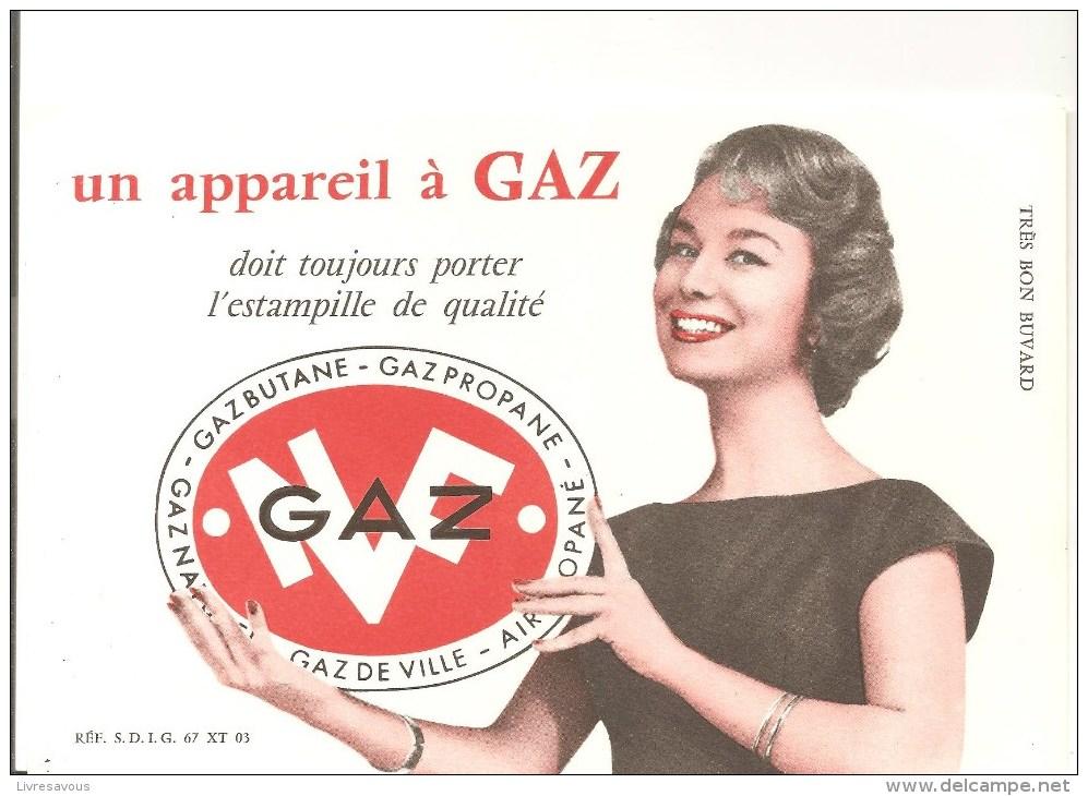 Buvard GAZ Un Appareil à Gaz Doit Toujours Porter L'estampille De Qualité N.F.. - Electricité & Gaz