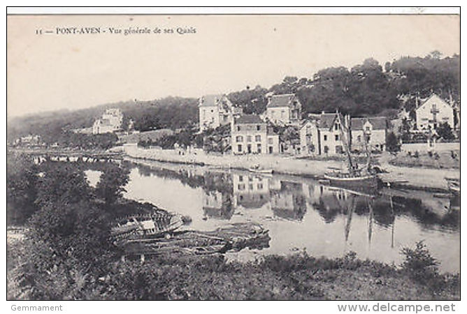 YP 310  FRANCE - PONT AVEN - GENERAL VIEW - France