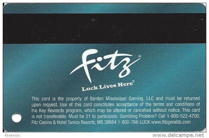 Fitzgerald´s Casino Tunica, MS - Slot Card - Casino Cards