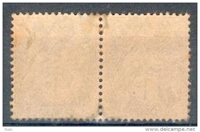 France - 1902 - Type Blanc ( Paire Horizontale Type IA ) 1c. Gris- Y&T N° 107 ** Neuf (sans Charnière) - 1900-29 Blanc