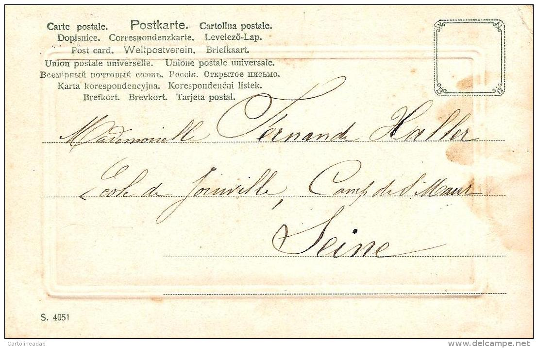 [DC3225] CPA - CARROZZA CON CAVALLO - IN RILIEVO - Viaggiata - Old Postcard - Cartoline