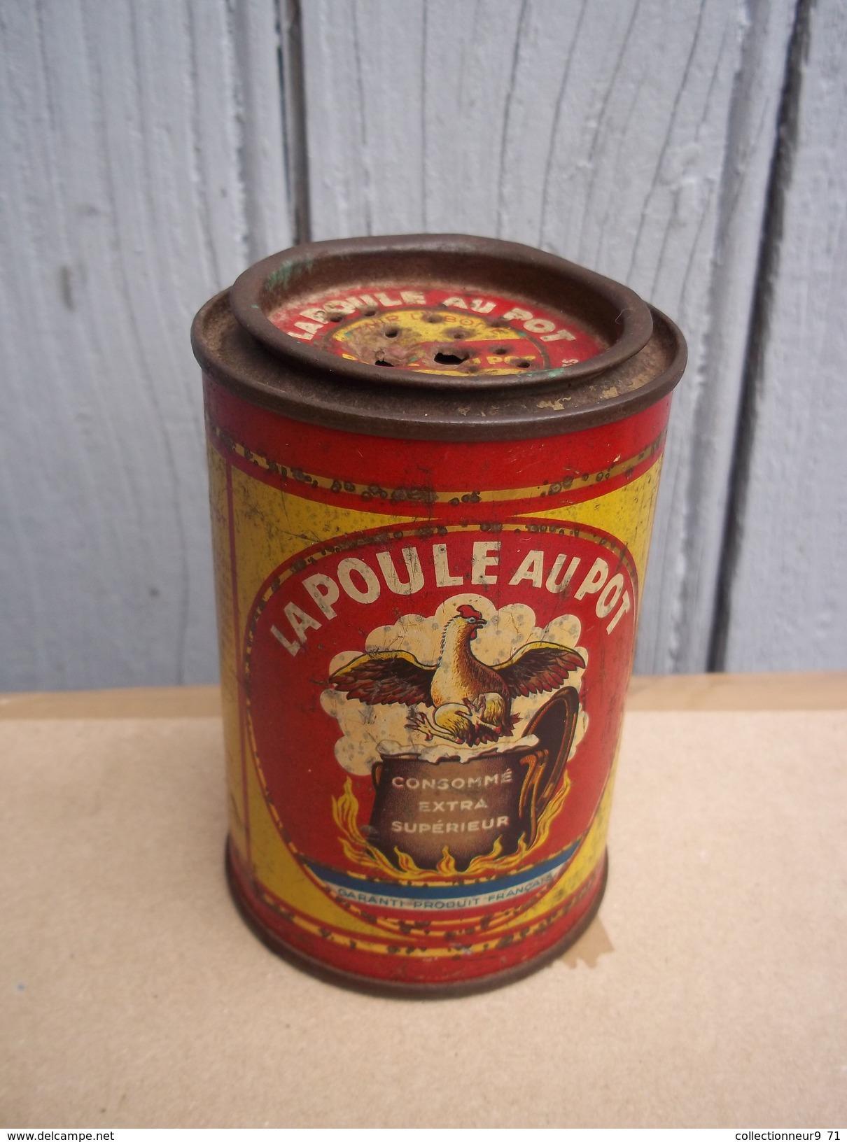 Ancienne Boite Poule Au Pot Collection Déco - Boîtes