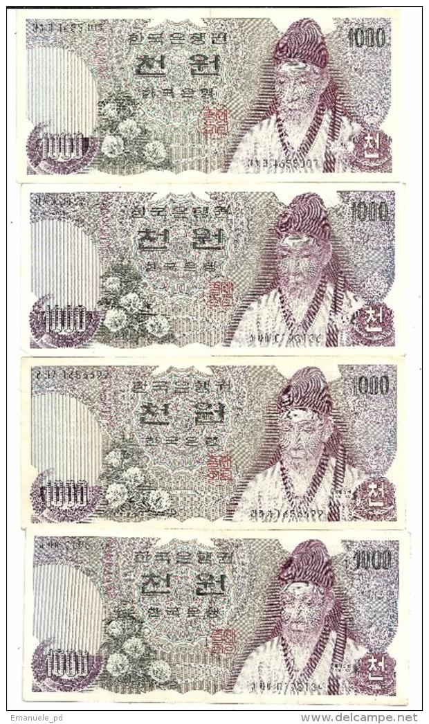 South Korea 1000 Won 1975 XF (Price For 1 Banknote) - Corea Del Sud