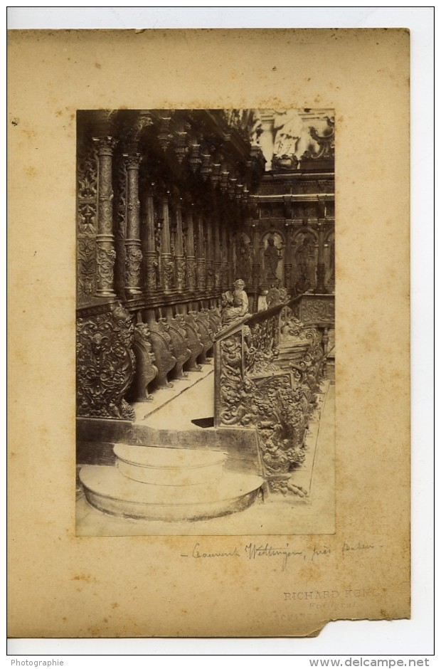 Suisse Baden Wettingen Couvent Stalles Baroque Ancienne Photo 1890 - Photographs
