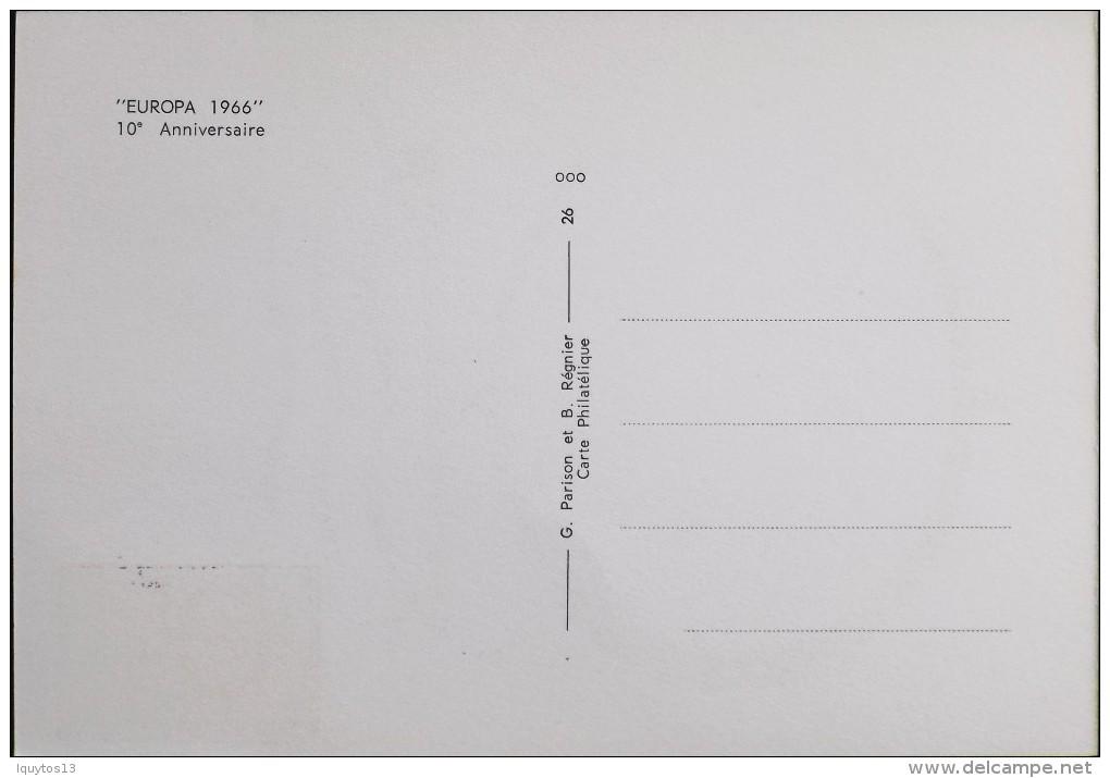 CP.  - 1966 - Exposition Philatélique EUROPA - Paris Le 26.09.1966 - SUPERBE - Expositions Philatéliques